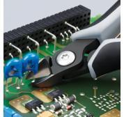KNIPEX 34 22 130 Pr/äzisions-Elektronik-Greifzange br/üniert mit Mehrkomponenten-H/üllen 135 mm
